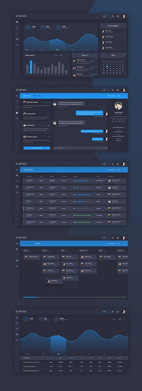 PSD Dashboard Template - Virtus » NitroGFX - Download Unique Graphics For Creative Designers