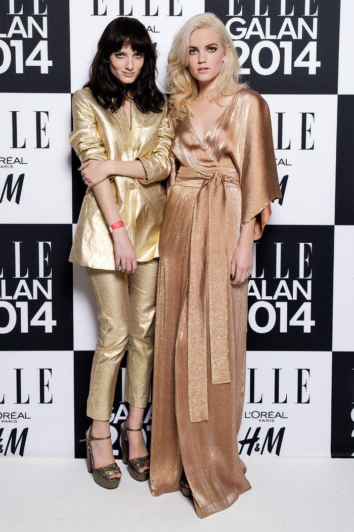 ELLE-galan 2014.Miranda Kilbey och Elektra Kilbey (Say Lou Lou)