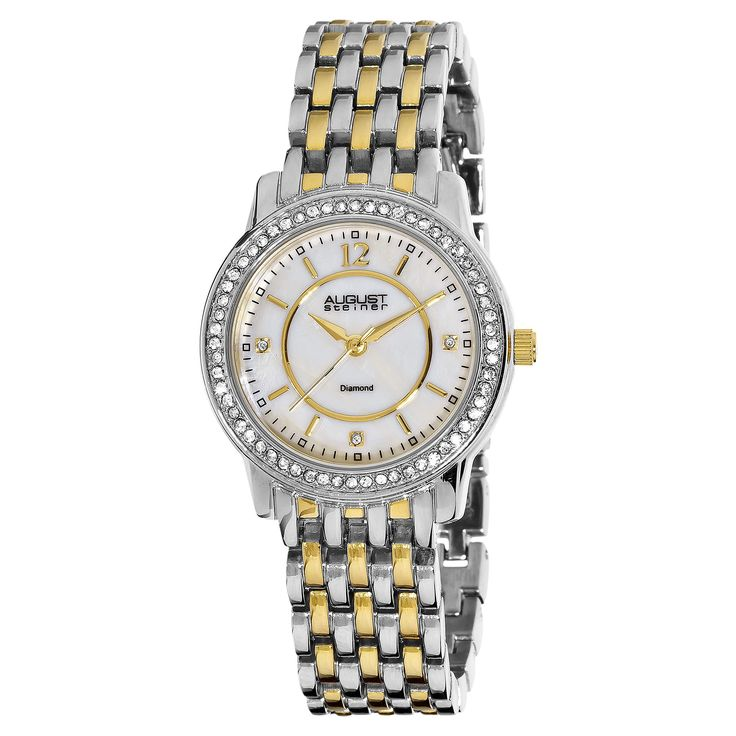 Watch the looks of envy on your friends' faces when you look down at this stunning diamond bracelet watch to tell the time. The bracelet claps keeps the watch from slipping off your wrist, and the sleek Arabic numbers let you quickly see the time.