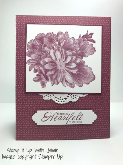 Stampin Up Heartfelt Blooms Stamp It With Jaimie