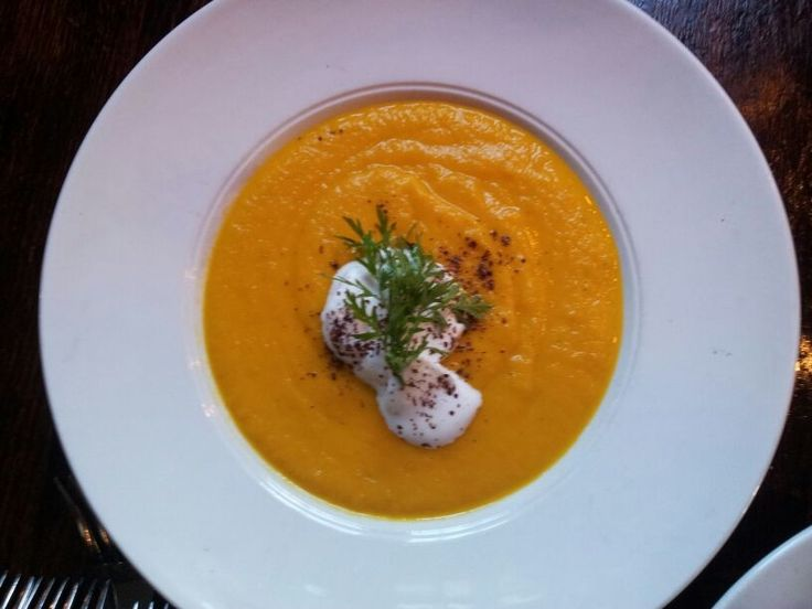 Carrot and Ginger soup lovingly served at Don Pedro in Woodstock, Cape Town.