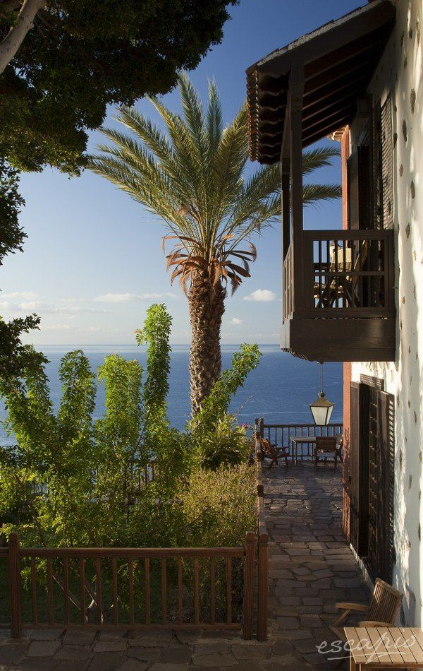Beautiful island La Gomera. Canary Islands. Spain. Hotel Parador de La Gomera