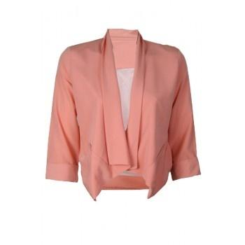 Een roze gekleurde blazer jasje.  www.2dayslook.com