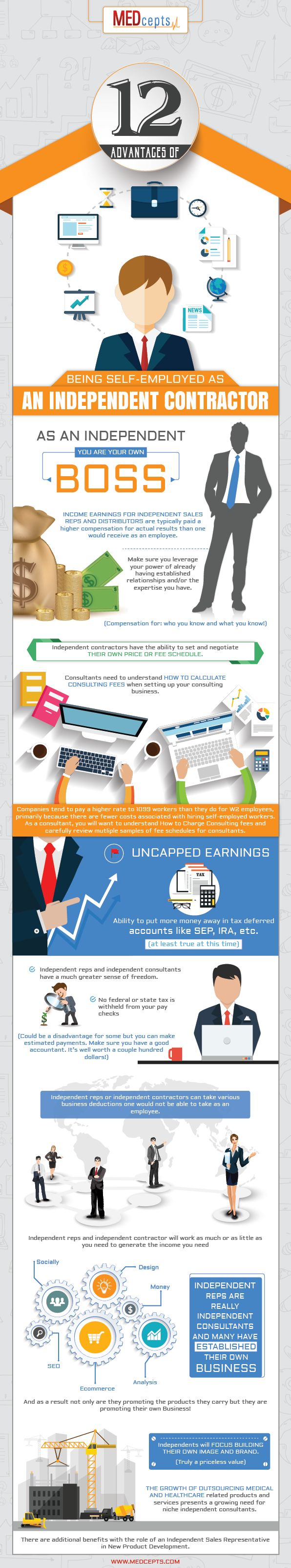 best images about independent contract medical advantages of being self employed independent contractor infographic the largest medical network of independent s reps independent distributors