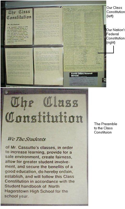 Lesson Plan: United States Government: Opening Day Activities - creating a class constitution