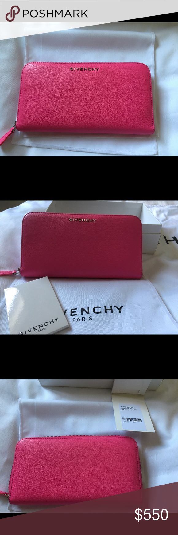 Givenchy Pandora hot pink wallet perfect condition. hot pink wallet. color no longer available. comes with dust bag, box and givenchy tags. offers will only be considered through the button not comments. Givenchy Bags