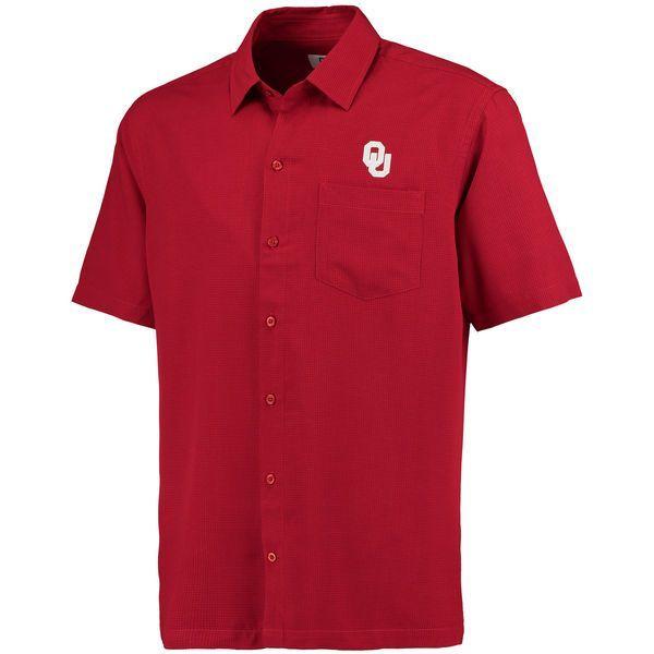 Oklahoma Sooners Cutter & Buck Solana Check Button-Up Shirt - Crimson - $69.99