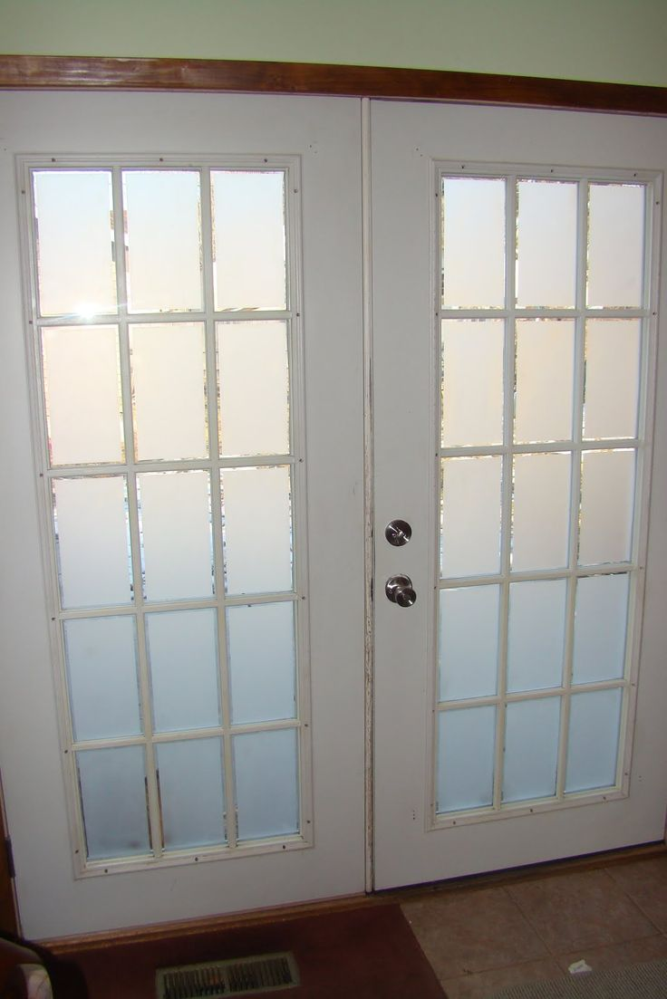 Frosted Glass On French Doors Decos Glass French Doors