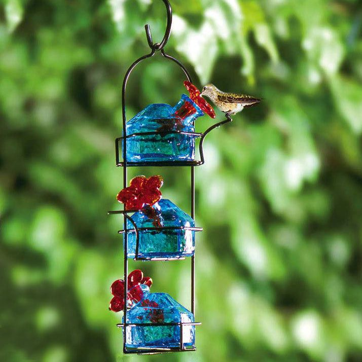 Filigree Glass Hummingbird Feeder - Yard Envy