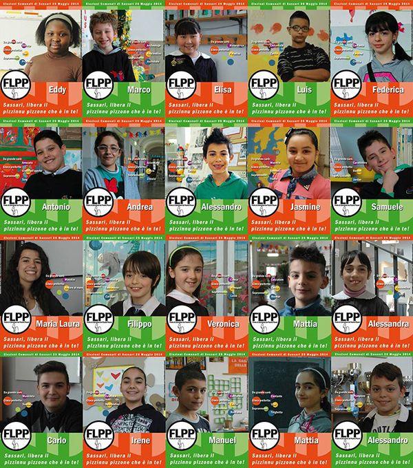 """Vi ricordate del Fronte di Liberazione dei Pizzinni Pizzoni (#FLPP)? http://www.pinterest.com/pin/458733912018342695/  Per le elezioni comunali del 2014 i bambini e le bambine di Sassari hanno lanciato una sfida, presentando una lista come quelle dei """"grandi"""" e un vero e proprio programma elettorale.  #ProgettazionePartecipata su @marraiafura"""