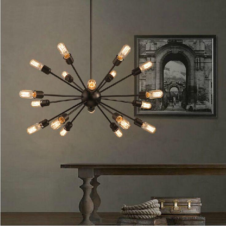 Mordern Nordic Retro Pendant Light Edison Bulb Lights Fixtures Lustre Industriel Iron Loft Antique DIY E27
