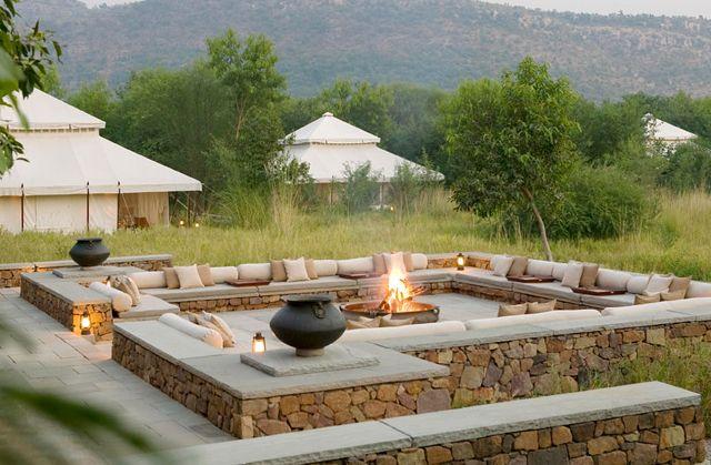 Backyard camp fire