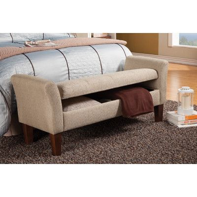 Wildon Home ® Upholstered Storage Bedroom Bench