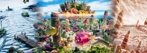 Foodscapes:EdibleLandscape Photographyby Carl WarnerCoral, Carl Warner, Foodscapes, Food Landscapes, Tropical Fish, Islands, Food Photos, Food Art, Foodart