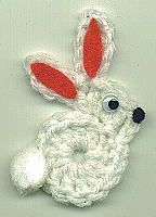 Free Crochet Pattern For Bunny Pin : Bunny Magnet - crochet free pattern Crochet Easter ...