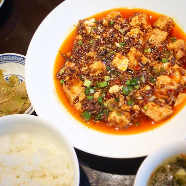 #堺 #上野芝 「#中国酒菜 #暢暢」 #麻婆豆腐 #中華スープ #ザーサイ 本格的な麻婆豆腐! 食感が楽しくて、辛すぎずおいしい。 ✴︎ #chinesecuisine http://w3food.com/ipost/1502660326590768080/?code=BTahZsIg-PQ