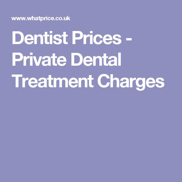 Dentist Prices - Private Dental Treatment Charges