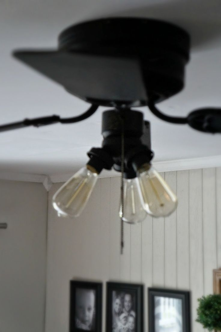 Super Easy Industrial Style Fan Makeover. If you have a fan light in the room.