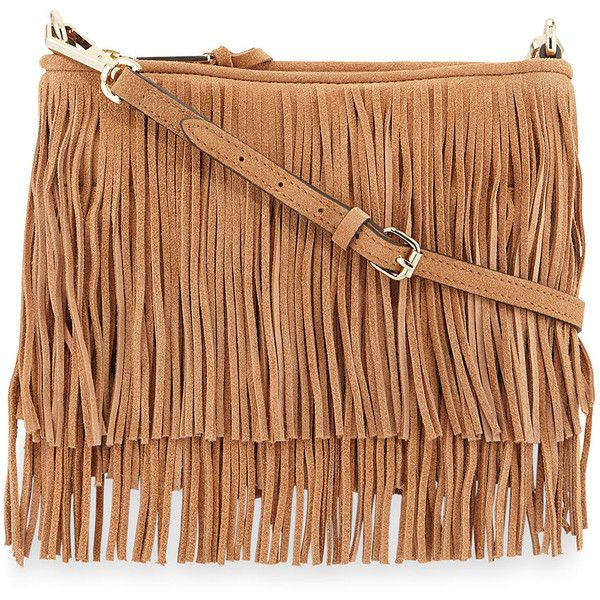 Rebecca Minkoff Finn Fringe Suede Crossbody Bag found on Polyvore