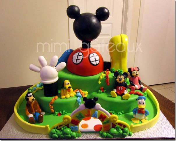 Marvelous Mickey Mouse Clubhouse Cake Minnie Mouse ...