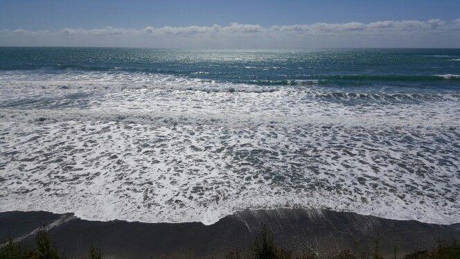 The shining Waipiro Bay view