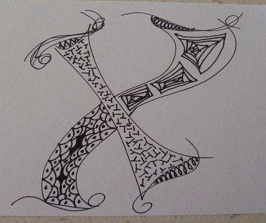 zentangle x