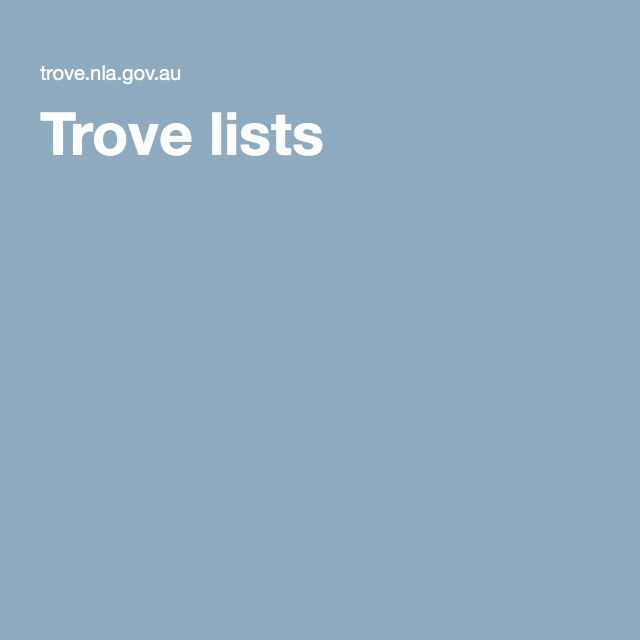 Trove lists