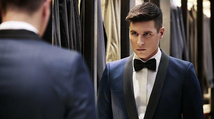 Bryan jacket & Ferry trousers BF77/79, Avalon shirt SV72/01, grosgrain bow tie https://shop.rembrandt.co.nz/