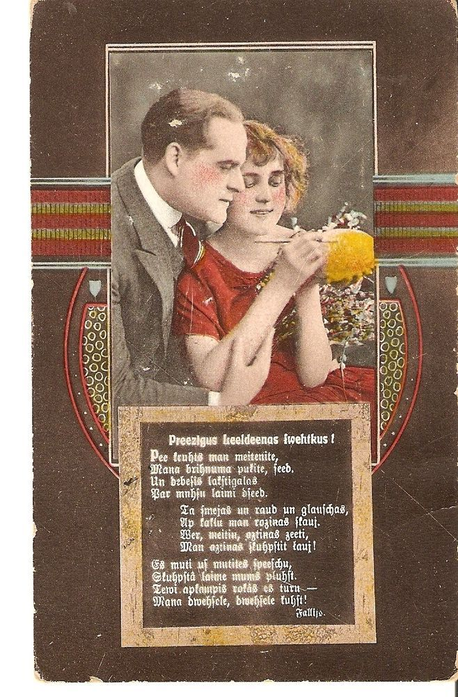 Happy Easter holidays postcard woman & man couple decorate the egg No.51 #Easter