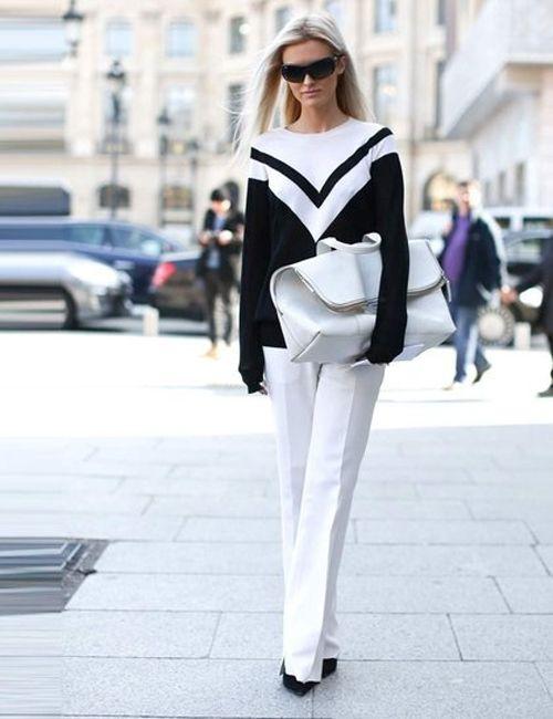Black and white street style www.karriebradshaw.com