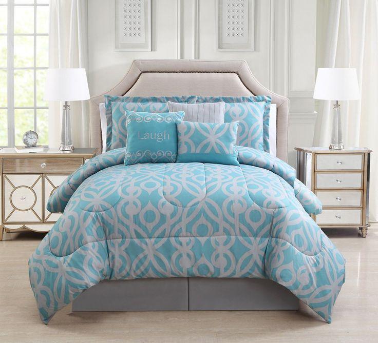 7 Piece Laugh Spa/Gray Comforter Set