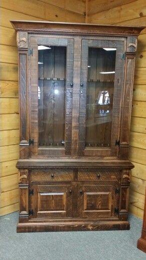 Fleur De Lis Cypress Gun Cabinet From All Wood Furniture