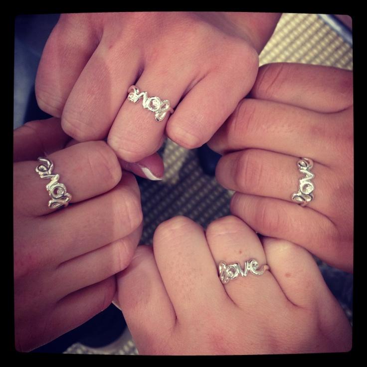 Sterling Silver Love Rings $495 each at David Arlen Jewelers