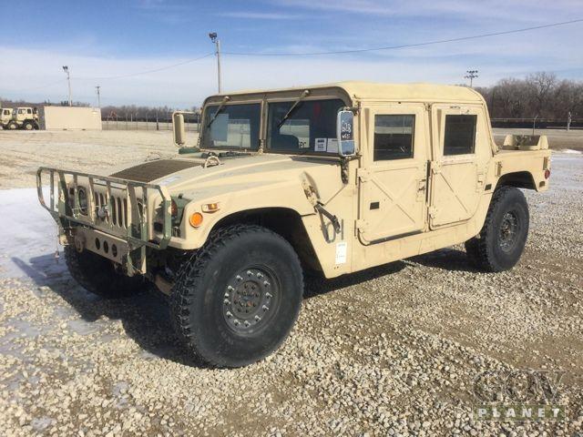 Surplus AM General M998 Humvee HMMWV in Fort Riley, Kansas, United States (GovPlanet Item #549362)