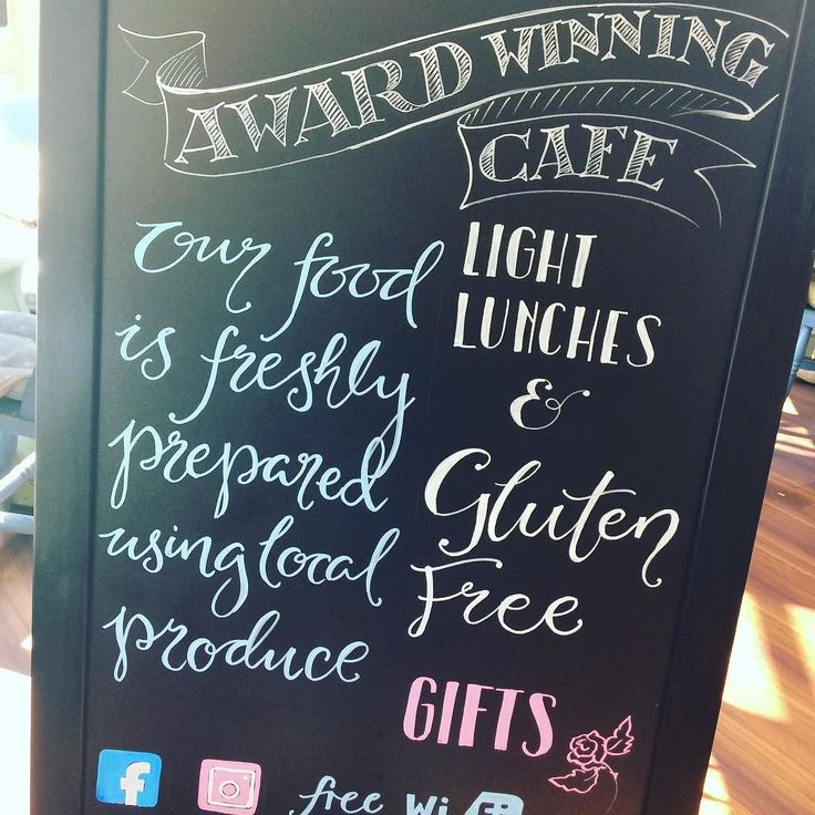 @vintage.rosetearoom #chalkboardart #chalkboard #type #typegang #typeface award winning #cafe #storrington