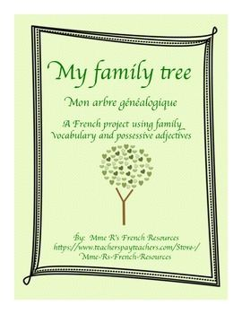 If you are teaching French family vocabulary and the possessive adjectives mon, ma, and mes in French 1 or exploratory French, you are probably looking for a project to make it more fun!The family tree project for French is a great and fun way to practice family vocabulary, possessive adjectives, and basic sentences for beginning French students.