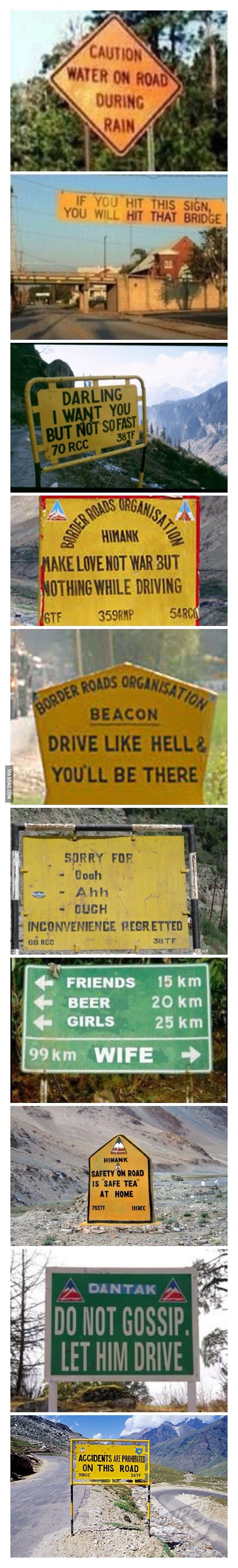 Funniest road signs in India part 1