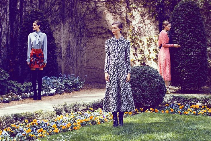 "About this project:  The secret garden"" was shot in an old garden in Berlin and combines current pre fall and AW collections with a graph"