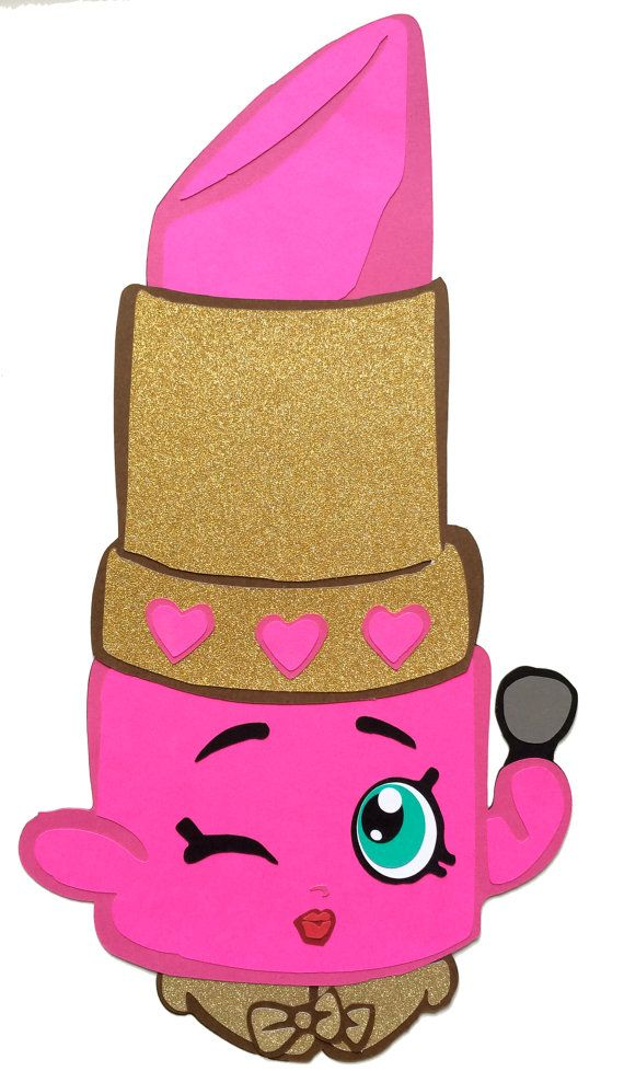 Shopkins party decoration shopkins lippy lips shopkins for Lipstick shopkins coloring page