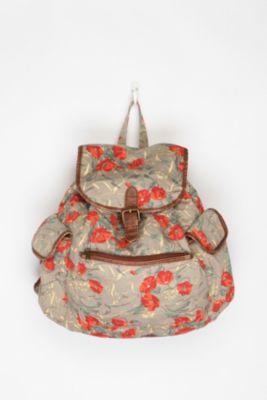 floral backpack, duh :)