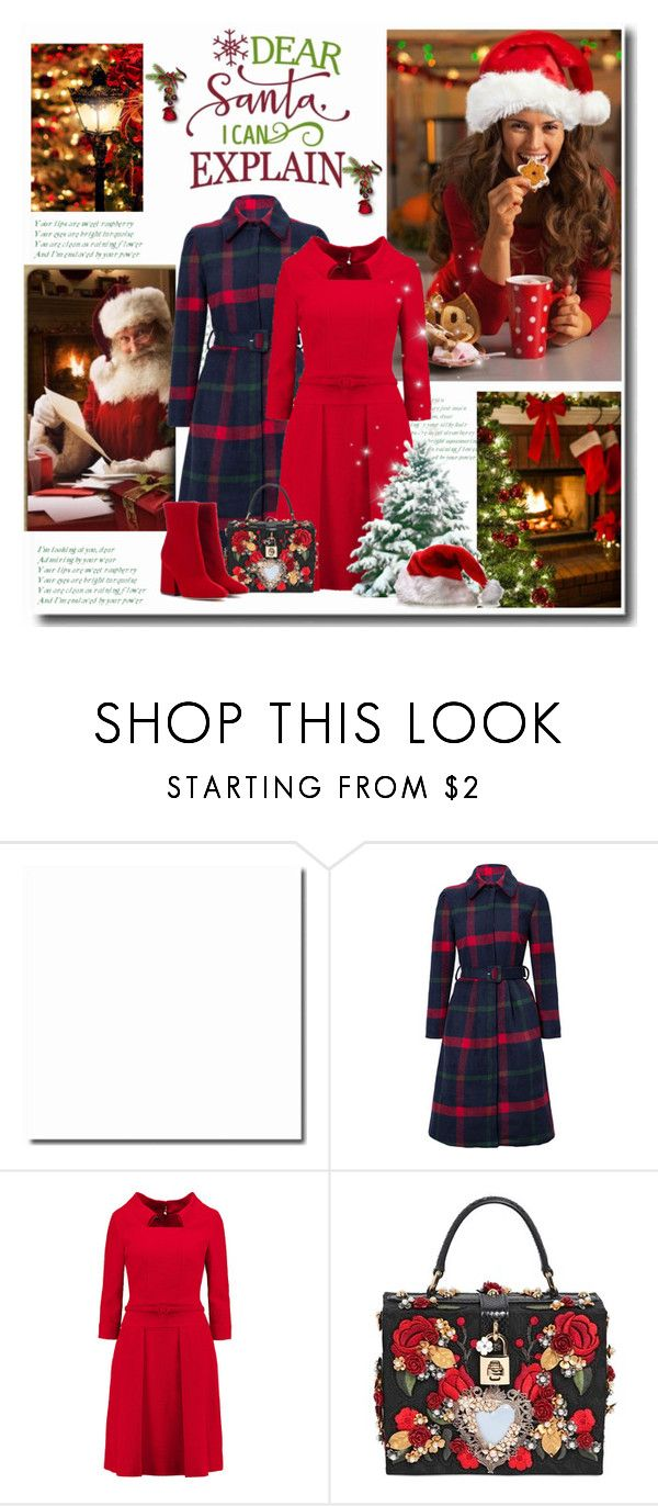 """HoliDay Season 2017 / *Dear Santa I can explain...*"" by mrswomen ❤ liked on Polyvore featuring WithChic, Oscar de la Renta, Dolce&Gabbana and Maison Margiela"