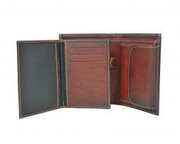 Luxusná kožená peňaženka č.8560 v bordovej farbe (4)