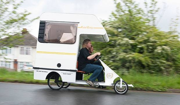 I honestly wasn't sure whether to file this one under Tiny Houses or Tiny Cars!
