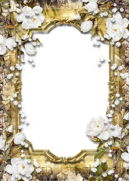 Gold PNG Frame with Diamonds and Roses. Click on link for free download. http://gallery.yopriceville.com/Frames/Gold_PNG_Frame_with_Diamonds_and_Roses#.VEc4DvldUYt