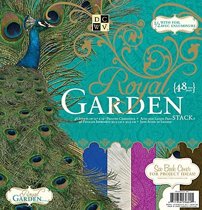 "Craftie-Charlie: DCWV Designer 12""x12"" Paper Stack with Foil - Royal Garden - 48 sheets"