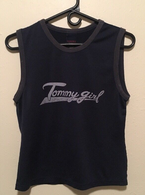 VTG Tommy Jeans Girl Tank Top Shirt Women's Medium Hilfiger 90's Jersey Retro | Clothing, Shoes & Accessories, Women's Clothing, Tops & Blouses | eBay!