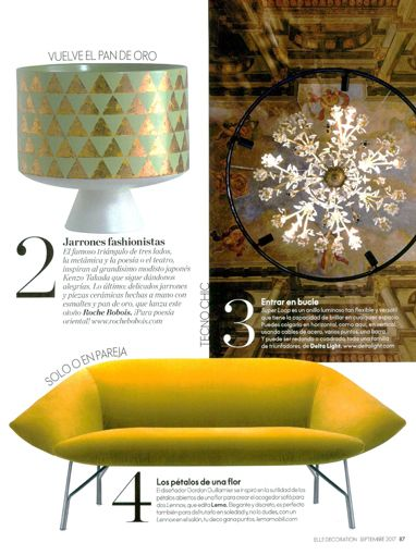 Press Review | LEMA | Elle Decoration - Spain | Lennox Sofa by Gordon Guillaumier