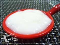 Creme de leite de arroz