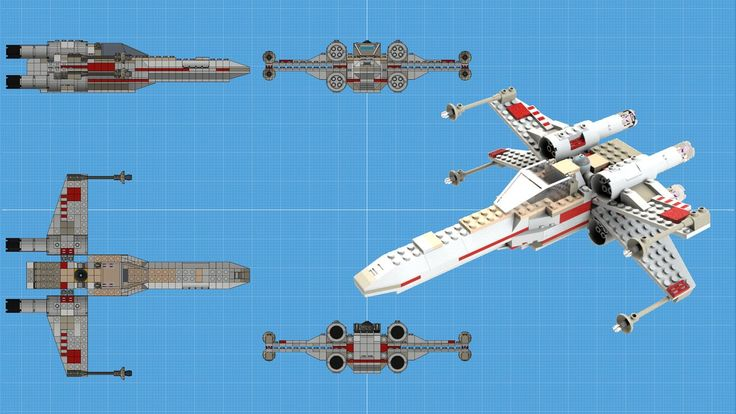 Finally, completed it!  94K polygons.  X-Wing fighter in attack position