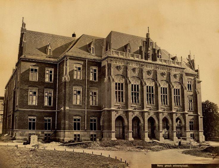 1886 , Collegium Novum Uniwersytetu Krakowskiego (dzisiaj: Jagiellońskiego).